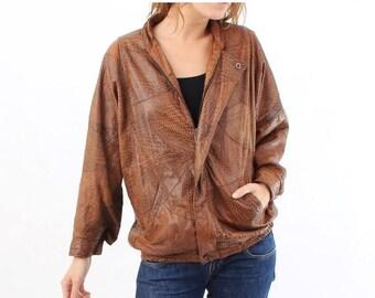 SALE Vintage Brown Soft Leather Jacket