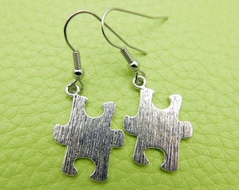 Puzzle Piece Earrings stainless steel