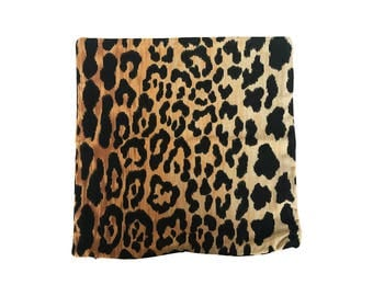 Pillow Cover - Jamil by Braemore in Natural - Cotton Velvet - Animal Print Leopard - Both Sides