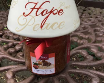 Better Homes Candle Jars/ Ceramic Shade-Christmas Decoration-Holiday-Caramel Pecan