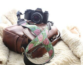 ON SALE The Vivian DSLR Camera Strap with Quick Release Buckles -- 1.5 inches wide