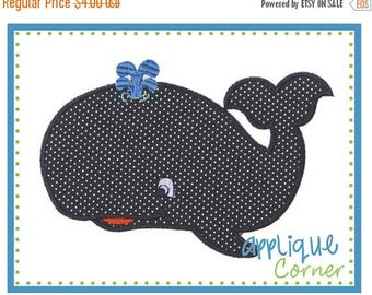 40% OFF Whale applique digital design for embroidery machine by Applique Corner