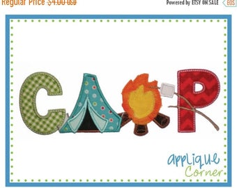 40% OFF INSTANT DOWNLOAD Camp Vertical applique design in digital format for embroidery machine by Applique Corner