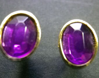 Small Purple Earring for Pierced Ears