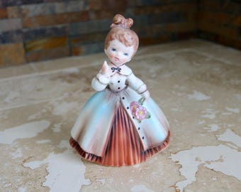 Inarco girl figurine, Inarco 1963 girl figurine, porcelain figurine, collectible Inarco figurine, brown haired girl, daughter gift