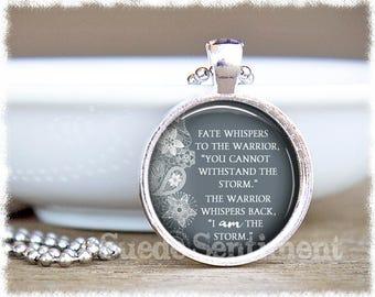 I Am The Storm • Inspirational Jewelry • Warrior Quote • Inspiration • Gift For Her • Motivational Jewelry