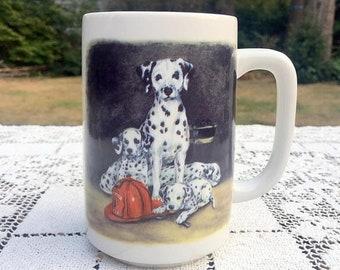 Save 15% OFF Dalmatian Coffee Mug/ Otagiri Dalmatian Mug/ Firefighter Gift/ Dalmatian Puppies/ Firehouse Dog Mug/Linda Picken Design/Otagiri