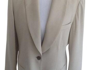 EMANUEL Ungaro Cream Women's Tuxedo Jacket