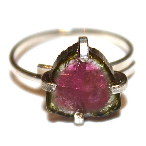 Medium Watermelon Slice Tourmaline Ring