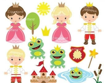 ON SALE INSTANT Download. Cf_6_Frog_prince. Frog prince clip art. Personal and commercial use.