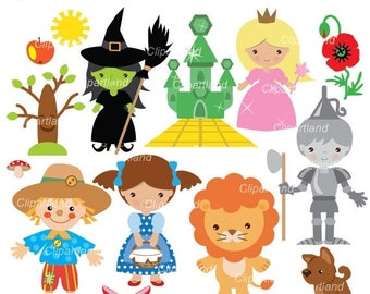 ON SALE INSTANT Download. Wizard of Oz clip art. Cw_2. Personal and commercial use.