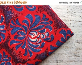 CHRISMAS IN JULY 20-26.07 Vintage flannel cotton fabrics 3.96 yards in 1 listing red navy blue floral