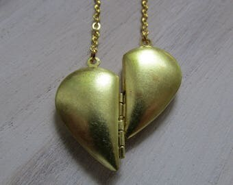 Locket Necklace Double heart
