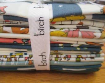 Fat Quarter Bundle of Birch Organic fabrics by Jay Cyn 14 FQs