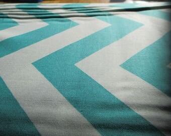 Quilting Weight Cotton Fabric Half Moon Modern in Aqua for Moda 1 yard