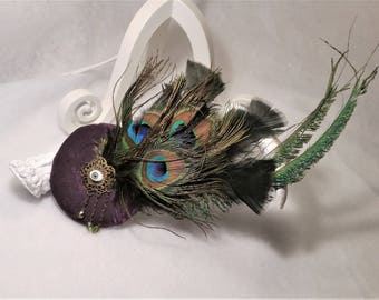 Small round fascinator burlesque freak