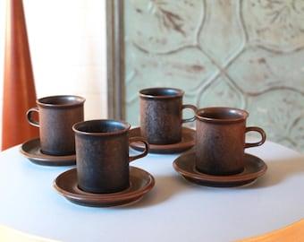 Arabia Ruska Tall Coffee Cups set of Four