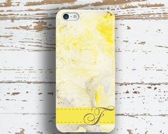 Gift for best friend, Monogram Iphone 5c case, Unique Iphone 6 Plus case, Abstract iPhone 5 case, Girls iPhone 4 case, Yellow white (1348)