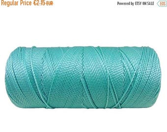 ON SALE Macrame Cord, 15 meters/16 yards DreamCatchers String, Boho Jewelry Cord, Braided Bracelet - Pale Turquoise