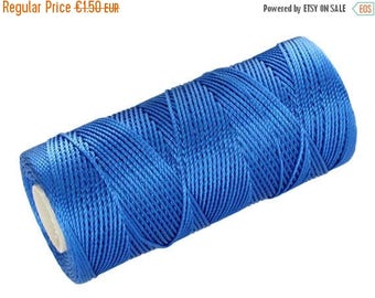 ON SALE 15 Meters Macrame Thread - Nylon Cord Not Waxed - Crochet Thread - Blue