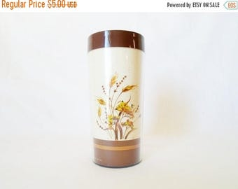 ON SALE Vintage Thermo-Serv Insulated Cup Thermal Cup Brown Wheat 1980 Dart Ind.Inc. Plastic Cup