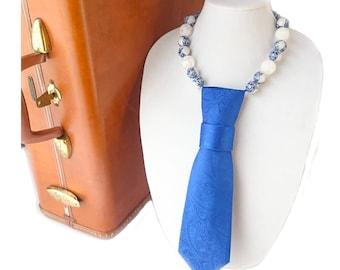 SAPPHIRE necktie necklace paisley tie candee feminine necktie ladies accessories statement piece women's necktie ornate ladies necktie