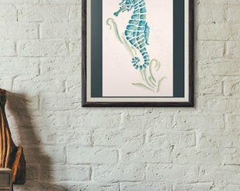 Seahorse Watercolour Art by P.Mantle available for Instant Download 2 jpeg files