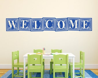 Welcome Vinyl Wall Decal Quote L222