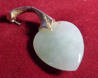 Jade Apple Pin came from Gump's in Sixties.