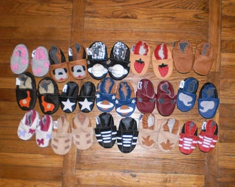 Special Wholesale soft sole baby shoes 16 pairs different sizes and designs ebooba 0-16