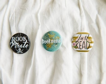 Bookish Buttons