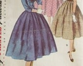Simplicity 4875 Sewing Pattern 1950s Rockabilly Party Dress Sailor Collar Full Circle Skirt Size 13