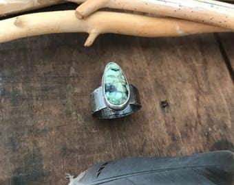 SIZE 8 New Lander ring - sterling silver