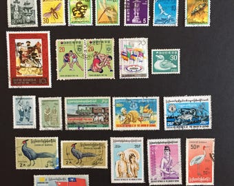 Burma and Korea Postage Stamps Around the World Lot of 31 Vintage