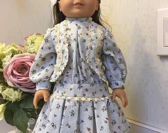 Blue Victorian drop waist dress