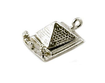Sterling Silver Opening Pyramid Of Giza Charm For Bracelets
