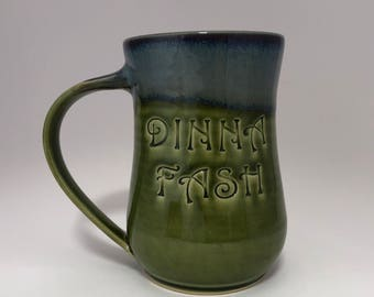 Dinna Fash Green Purple and Blue Coffee Beer Mug