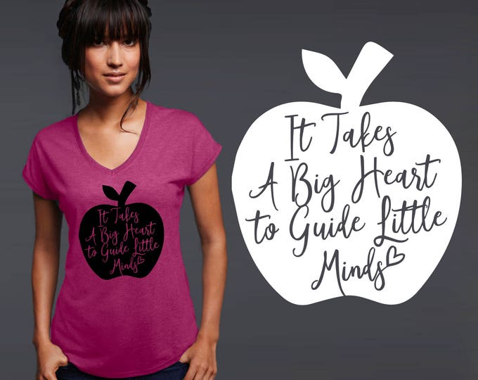 Teacher Shirt | Teacher Gifts | Teacher Tshirt | Gift for Teacher | Custom T-shirts | It takes a big heart | Korena Loves