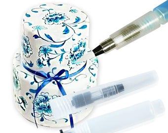 3pcs Cake Decorating Brush Set Useful Tools cake tools Refillable Pilot Cake Decorating Water Brush Painting Pen