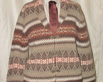 Fair Isle cardigan by Telluride, ladies size L
