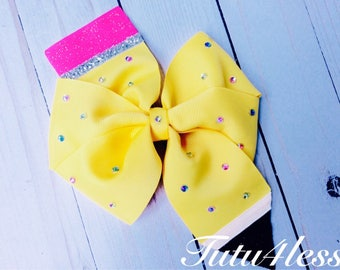 Back to school hairbow, Pencil Hair Bow, Bows, Colorful Hair Bow
