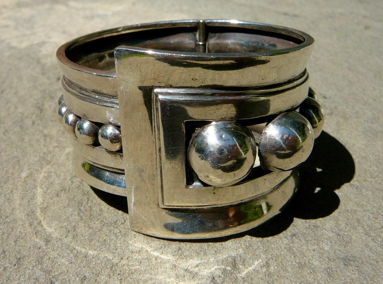 Taxco Silver Bracelet, Taxco Bracelet, Taxco Silver, Taxco Jewelry, Taxco, Margot de Taxco, Margot Taxco, Silver Bracelet Women, Silver