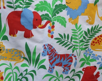 Vintage fabric Children's Bedroom Curtains, vintage fabric, animal print, quilt making