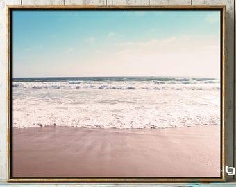 Ocean Photography, Dreamy Beach, Beach Photography, Manhattan Beach, Wall Art, Blue Skies, Ocean Waves