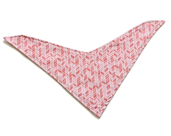 SALE || Large Adjustable Bandana Bib || Straw Pink