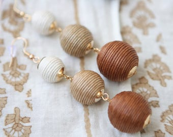 Bailey Bauble Earrings in Coffee