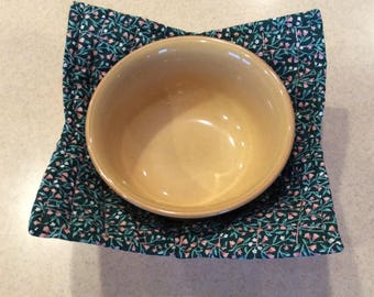 Floral Microwave Bowl Cozy