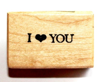 I (heart) YOU Rubber Stamp from PSX