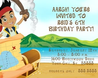 Jake the Pirate Birthday Party Invitation
