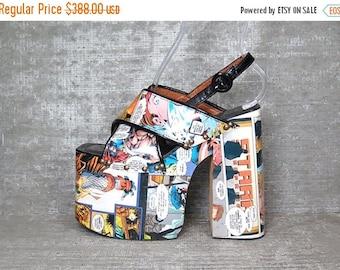 40OFF Vtg 90s Luichiny Comic Club Kids Monster Platform Sandals Shoes 7